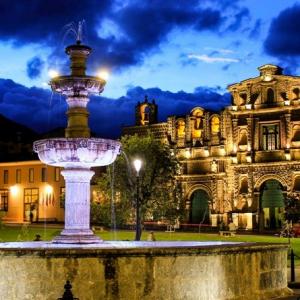 Plaza de Armas de Cajamarca de Noche